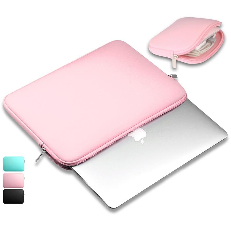 Portable Zipper Soft Liner Sleeve Laptop Bag Notebook Case Computer Bag Smart Cover for 11″ 13″ 14″15″ Macbook Air Pro Retina