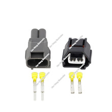 5 Sets Auto 2 Pin Female Male Crank Sensor Wire Harness Waterproof Connector For Lexus Toyota