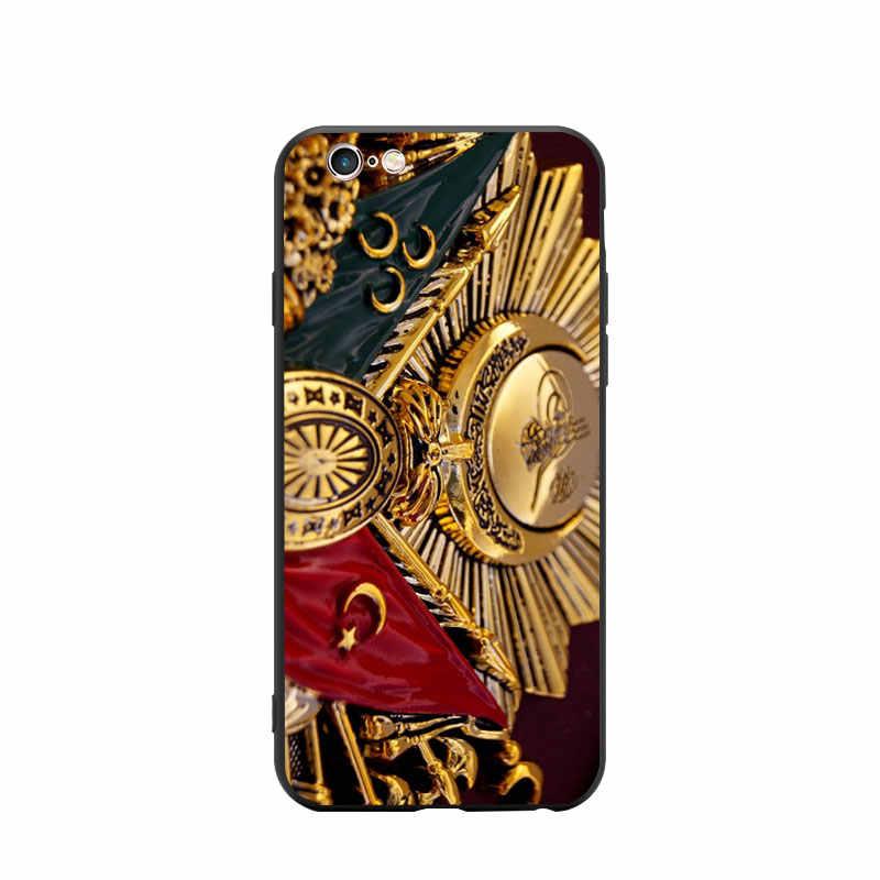 トルコトルコのオスマン帝国コート腕テーマtpu電話ケースカバーiphone 6 7 8 s xrパーソナライズxプラス 11 プロマックス