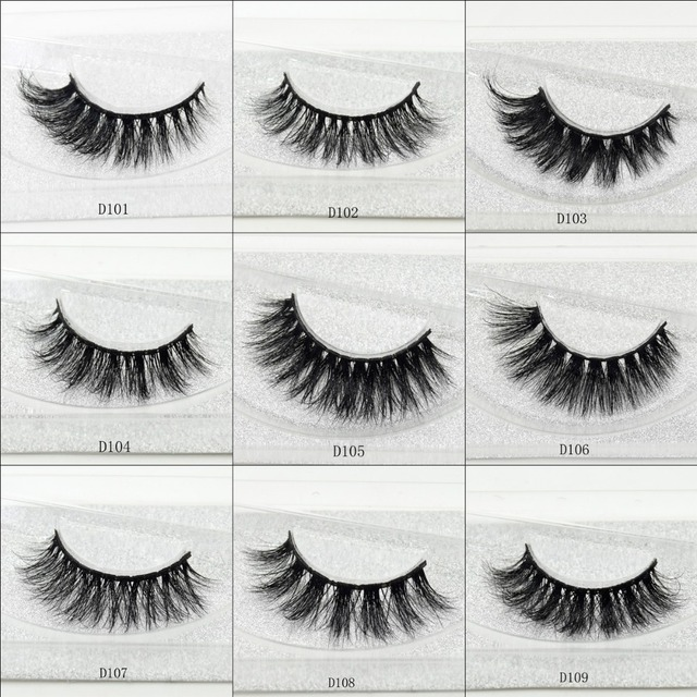 visofree 100% Handmade Eye Lashes 3D Real Mink Makeup Thick Fake False Eyelashes With Glitter Packing D108 1