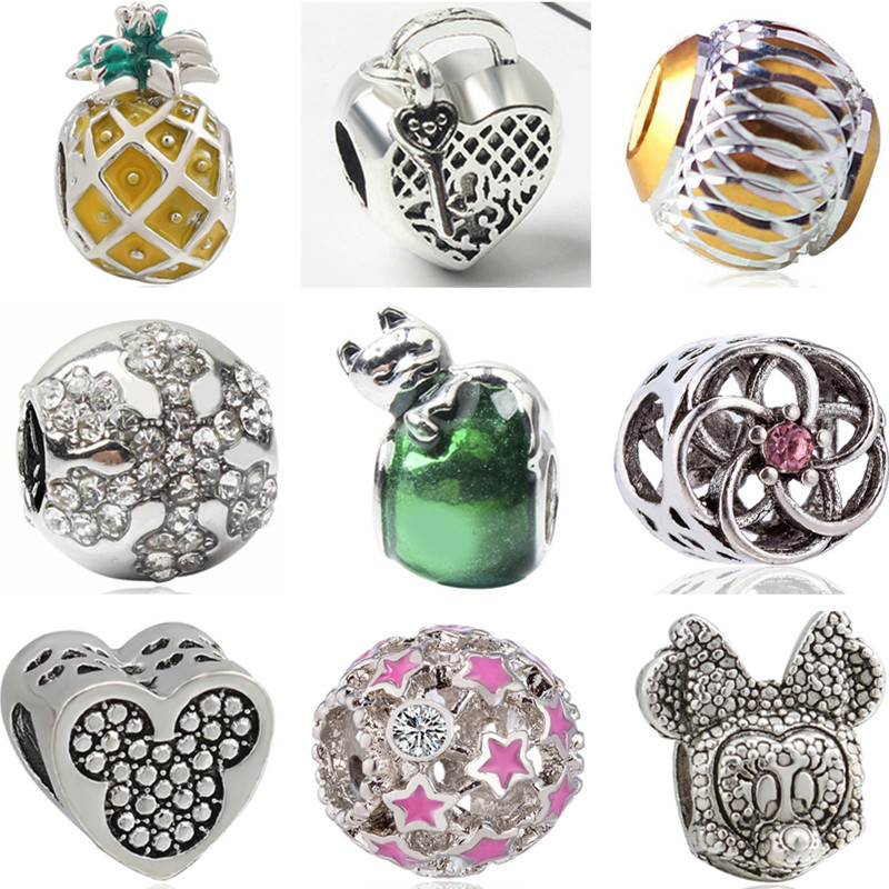Fit on European Charm 925 Sterling Silver Refinement Piano Charms Beads