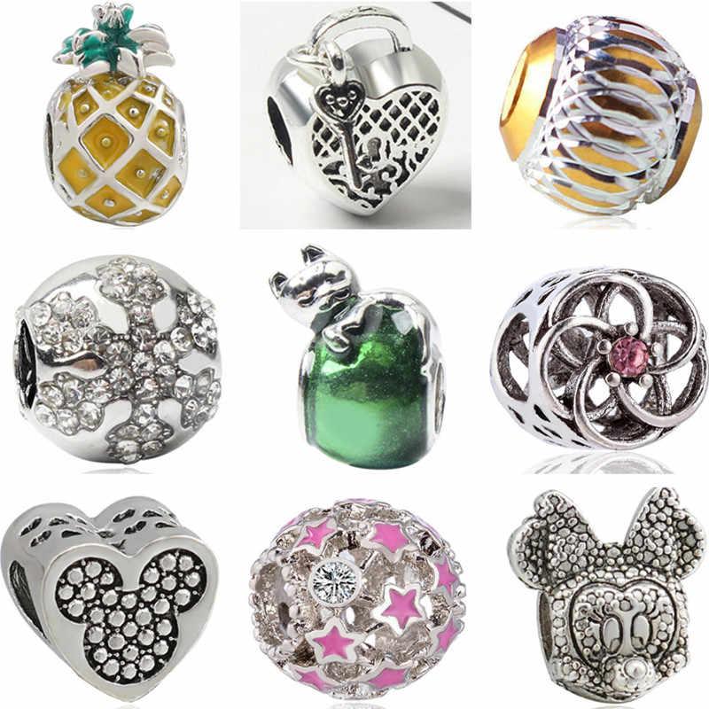 Europeus Beads DIY Pequeno Melancia 7 Anões Crown Estrelas Liga Contas Fit Pandora Encantos Pulseiras Originais para As Mulheres Acessório