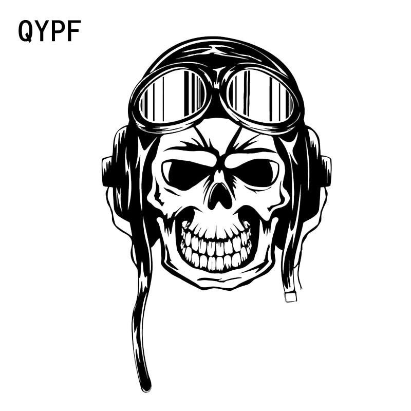 Qypf 12 2 18 9cm Interesting Skull Pilot Graphic Car