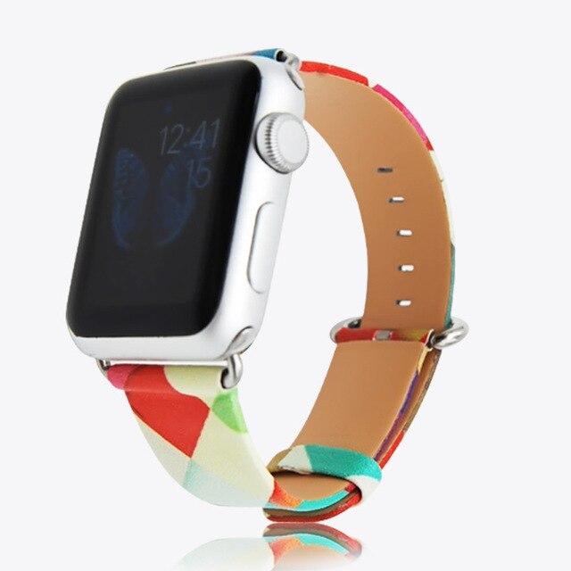 Para apple watch banda de cuero loop 42mm correa de cuero genuino correa de reloj para iwatch correa correa 38mm