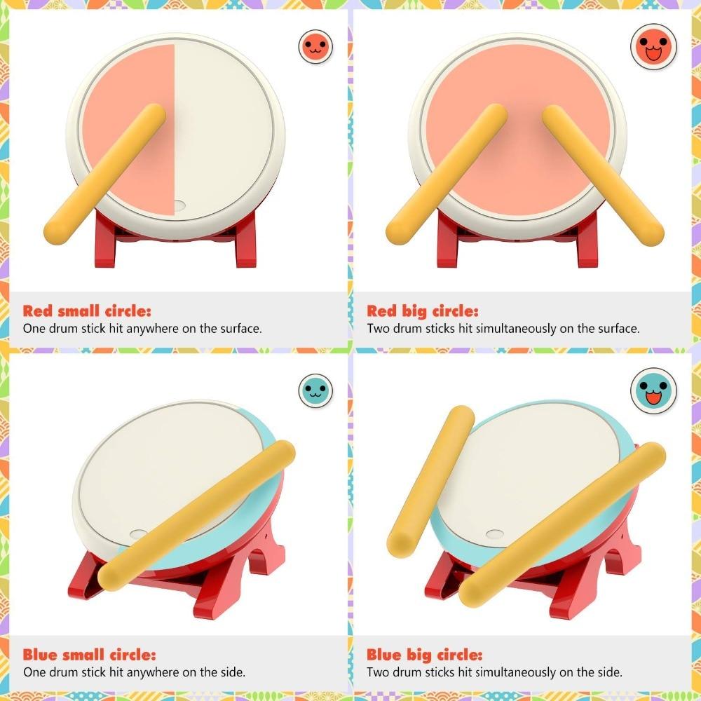 Yoteen contrôleur de tambour pour Nintendo Switch jeu vidéo contrôleur de tambour maître jeu de détection de mouvement Taiko accessoires de maître de tambour - 5