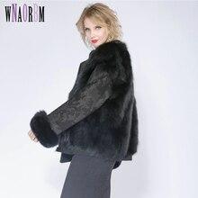 2019 Fox Fur Jacket, Both Sides Wear Lady Coat, Fox Fur Fur Locomotive Clothing Manteau Fourrure Femme