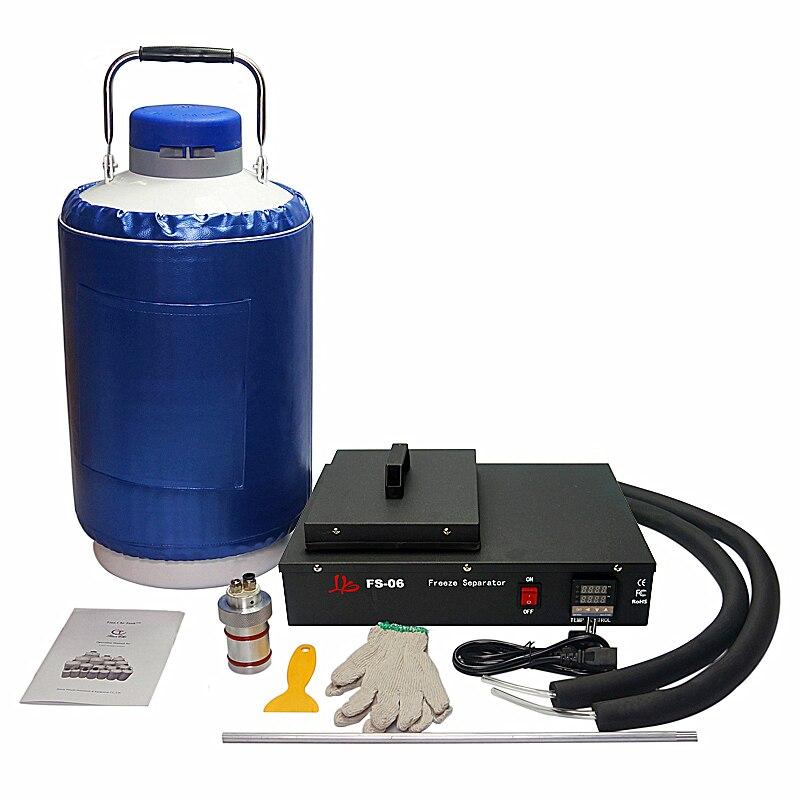 LCD écran séparateur liquide d'azote congelés Séparant machine 220 v 300 w intégré sans huile pompe à vide avec 10L réservoir FS-06