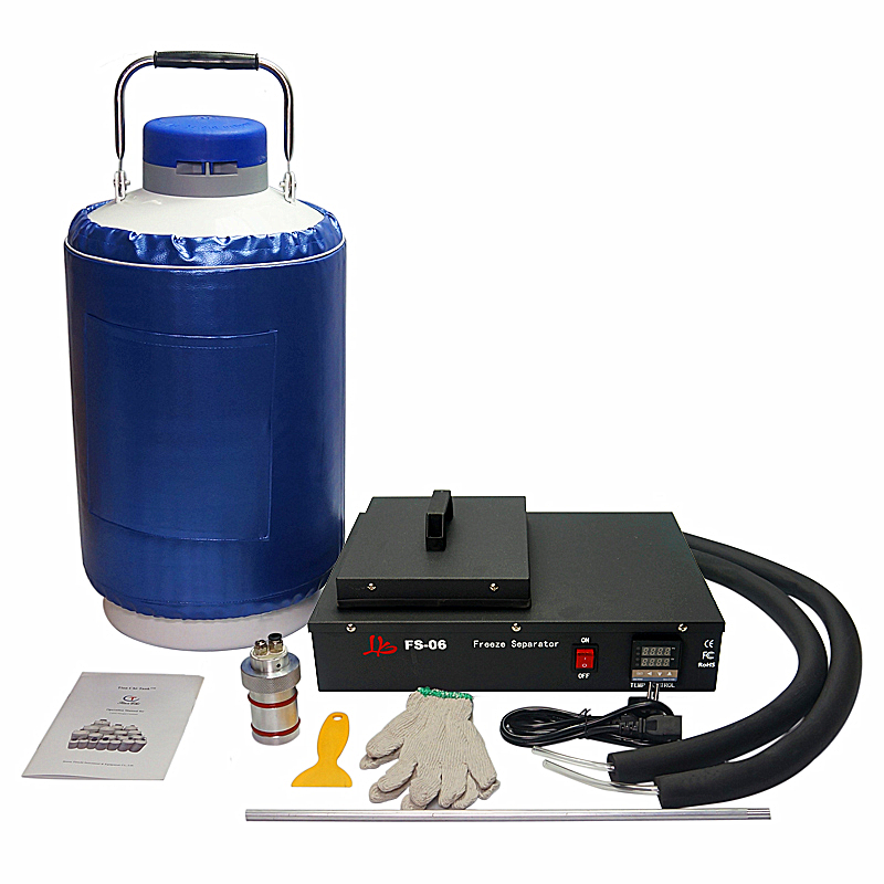 Schermo LCD separatore di azoto liquido congelato Che Separa macchina 220 V 300 W built-in pompa a vuoto con 10L serbatoio olio di trasporto FS-06