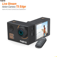 ThiEYE Sport Action Camera 4K 14MP Native WiFi 2'' TFT LCD Screen 1080P Sports Voice Remote control Waterproof Camera T5 Edge