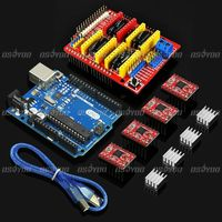 New UNO R3 Board CNC Shield Expansion Board 4 X A4988 Stepper Motor Driver With Heat