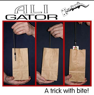 Ali Gator by Chazpro Gimmick - Magic Tricks Card Magic Close Up Stage Props Magia Mentalism Illusions Toys Professional Magician mc photo frame stage magic tricks close up accessories card magic props toys