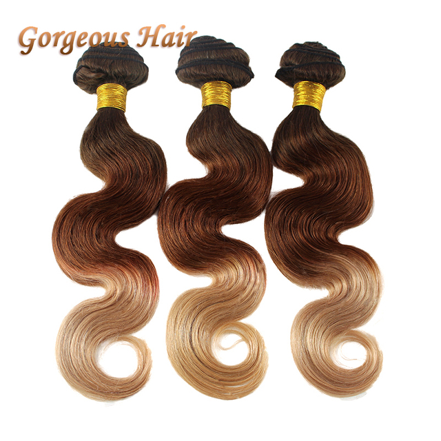 Hot Sale Human Hair Ombre T4 30 27 Hair Color 3 Tone Ombre Hair