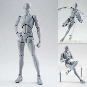 Image 2 - 14cm Movable female male body Action Figure Toys Anime figure doll Drawing Mannequin bjd artist Art painting body model dolls