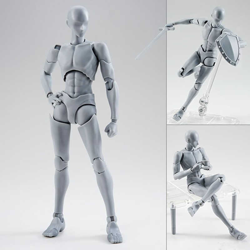 14cm mobile femme mâle corps Action Figure jouets Anime figure poupée dessin Mannequin bjd artiste Art peinture corps modèle poupées