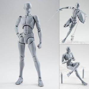 Image 2 - 14cm מטלטלין נקבה זכר גוף פעולה איור צעצועי אנימה איור בובת בובת ציור bjd אמן אמנות ציור גוף דגם בובות