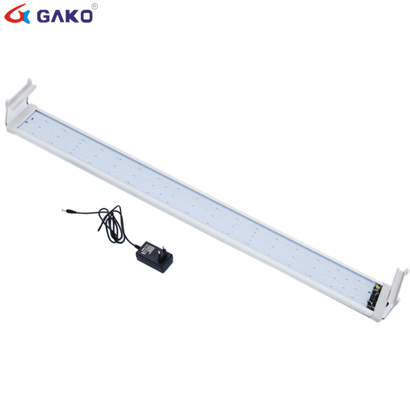 Colorful Aquarium Fish Tank Lamp LED Lighting 95 115cm 36W With Retractable Bracket 135 LED Lights