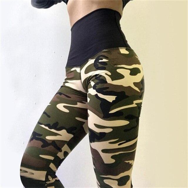 High Quality Women Leggings High Elastic Skinny Camouflage Legging Spring Summer Slimming Women Leisure Jegging Pants 6