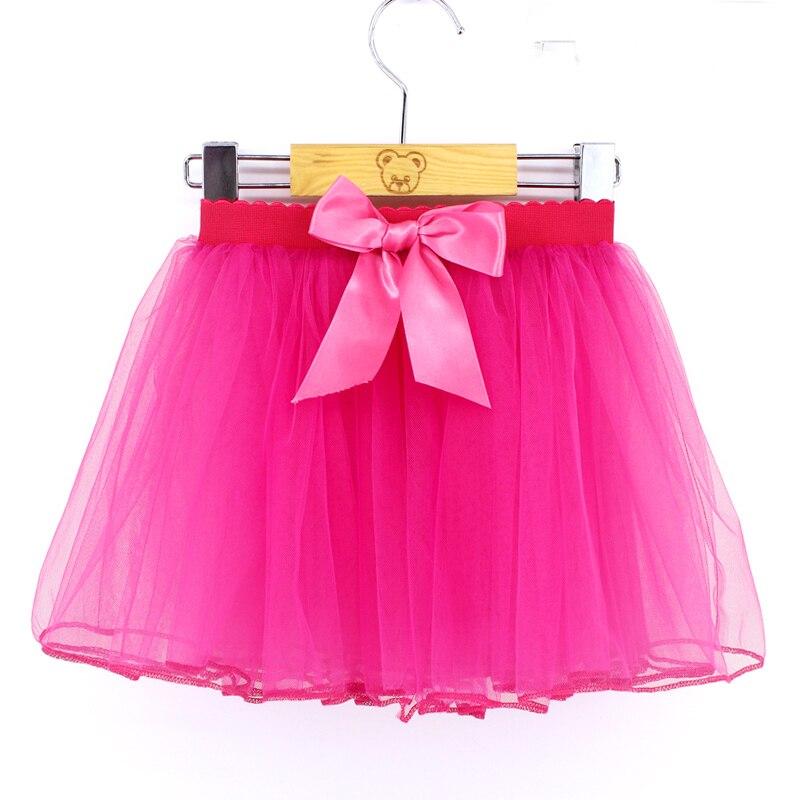 2017 Lovely Baby Princess Tutu Skirt Autumn Girls Puff Ballet Dance Wear Dress Bow Decoration Kids New Pure Color Chiffon Dress