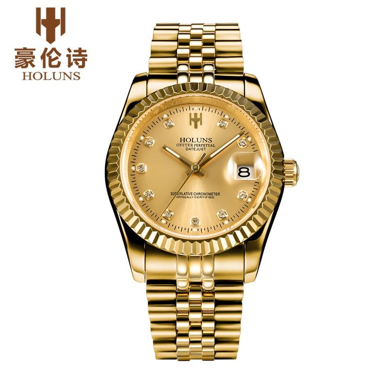 ФОТО HOLUNS R006 Watch Geneva Brand oyster perpetual datejust series men's luxury automatic mechanical 126301 relogio masculino