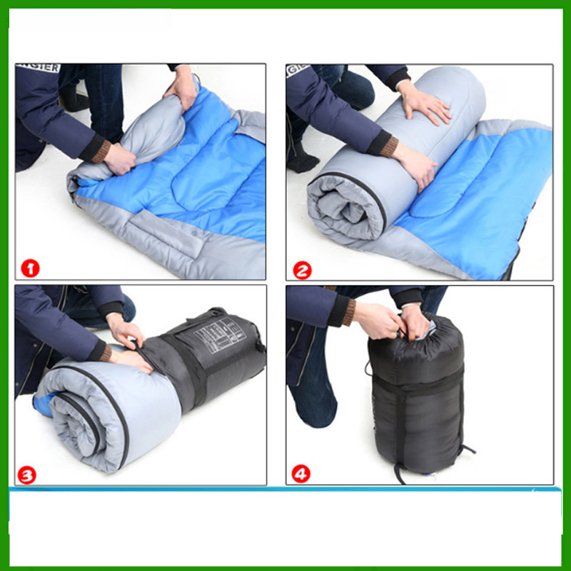 Image 5 - VILEAD Envelope type Hand unbound Sleeping Bag Ultralight Portable Waterproof Hiking Camping Stuff Adult Quilt Bed Lightweight-in Sleeping Bags from Sports & Entertainment