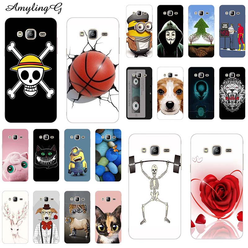 For Samsung Galaxy J5 2015 Case 3D Relief Printing Silicone Back Case for Samsung J5 J5008 SM-J500F J500 J500F Phone Cover Bag image
