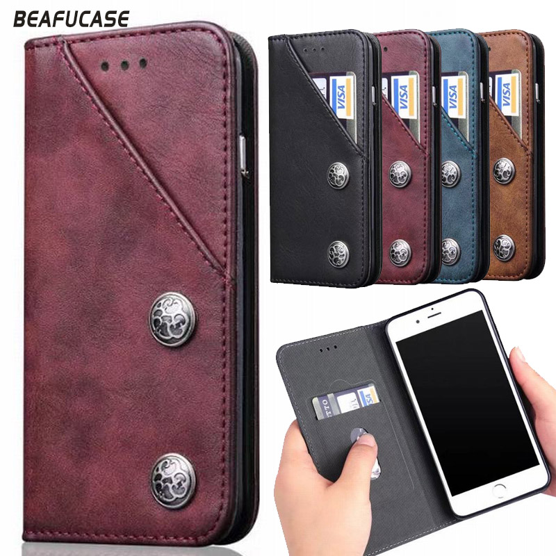 For Apple iPhone 8 Flip Case Magnetic Phone Case For iPhone8 Luxury PU Leather Cover For iPhone 7 CardHolder Case Kickstand