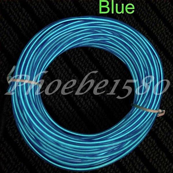 10 color Flexible 10M EL Wire Rope Tube Neon Light 12V Inverter Red ...