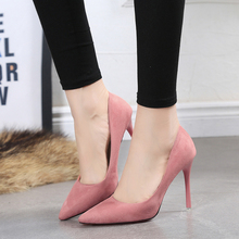 Fashion women shoes suede thin heel women high heel Office ladies shoes pumps HX170101-1