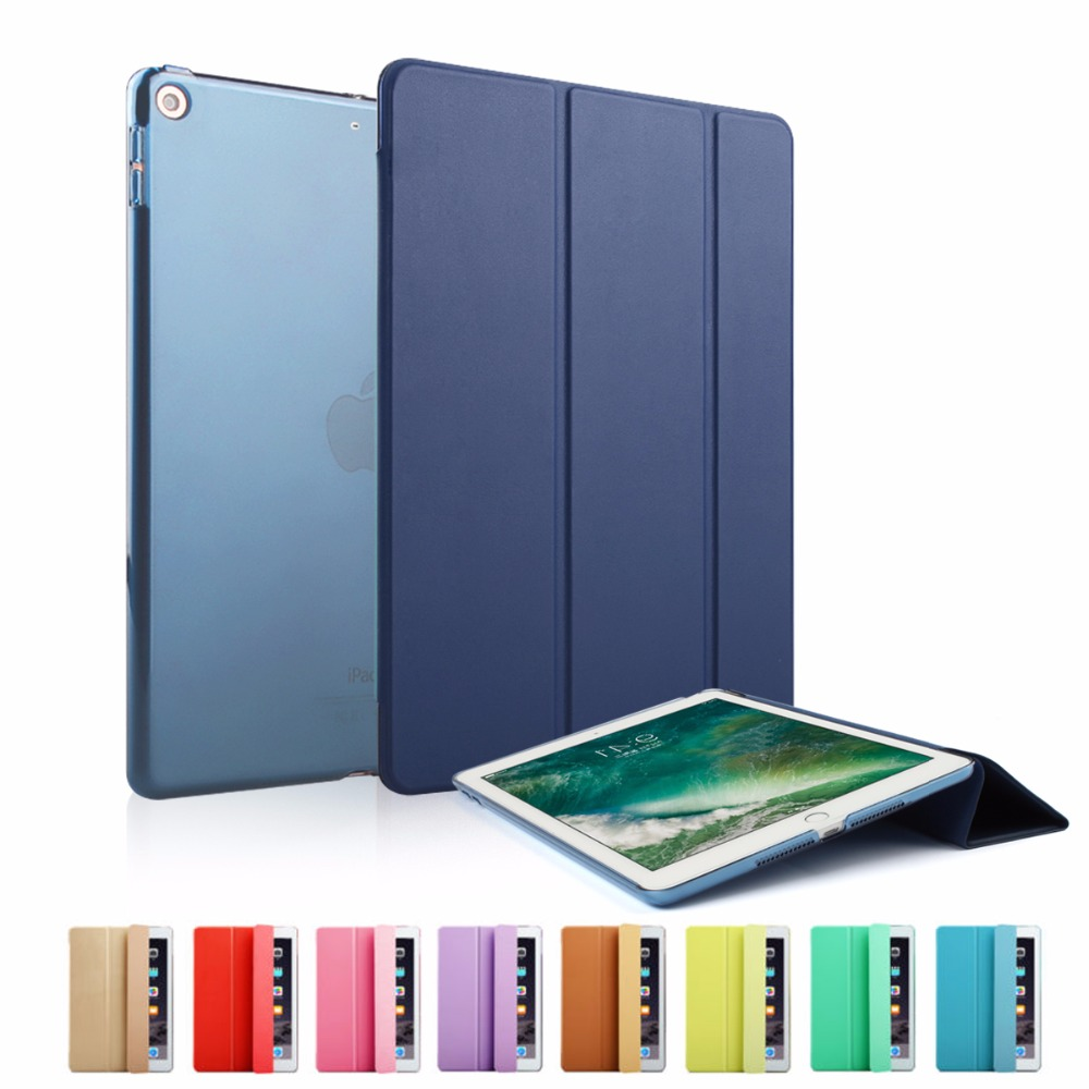 Smart Case for New iPad 9.7 inch 2017 Model Ultra Slim PU Leather Cover Flip Auto Wake Up Sleep Magnetic Navy Sleeve smart cover case for kobo aura one 7 8 inch ereader ebook pu leather pocket sleeve with magnetic auto sleep