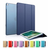 Smart Case for New iPad 9.7 inch 2017 Model Ultra Slim PU Leather Cover Flip Auto Wake Up Sleep Magnetic Navy Sleeve