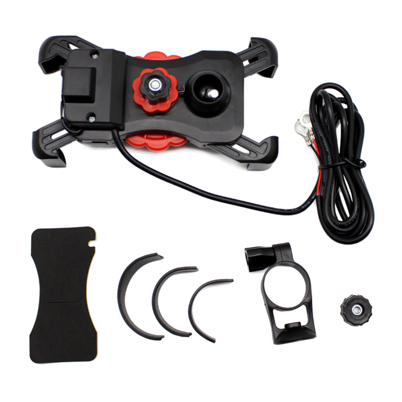 Nuoxintr Universal Dual USB Motorcycle Charger Socket Moto Motocross Bike Handlebar Holder Charger Power Adapter Outlet Power