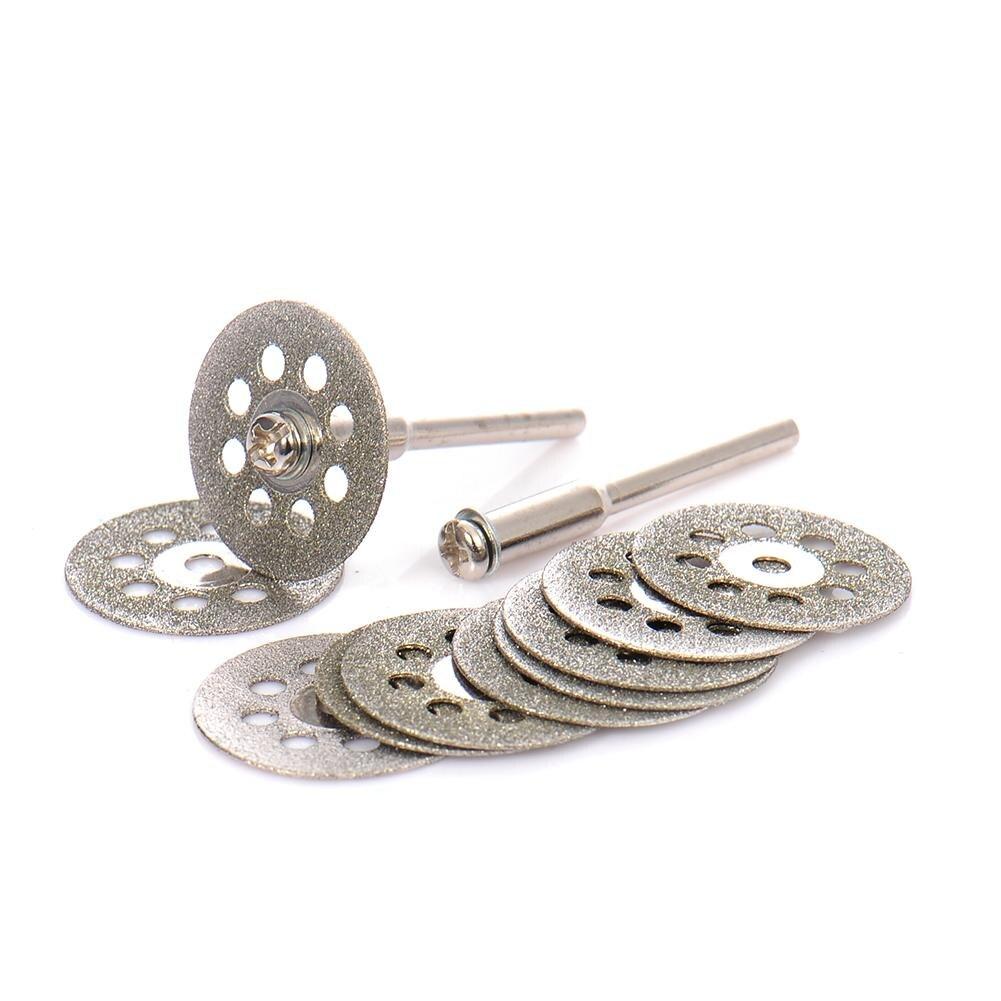 10PCS/SET 20mm/22mm Cutting Disc Saw Blades Diamond Grinding Wheel Abrasives Dremel Saw Blades Rotary Tool Circular Tool J3