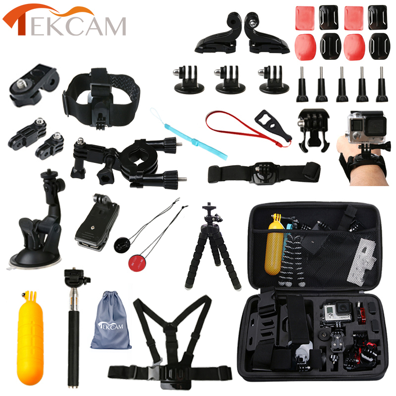 Tekcam Accessories for Gopro Selfie Camera Mount for Gopro hero 5 Accessories for hero 7/6/4/3 Session Xiaomi yi 4k plus Yi Lite motorcycle rearview mirror aluminum alloy stent fixed bracket holder for gopro hero 6 5 4 3 3 for xiaomi yi 4k camera