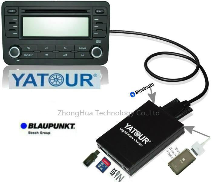 Yatour YTM07 Car Music Digital Mp3 Player USB SD AUX Bluetooth  ipod iphone  interface for Blaupunkt Rover 25/45/MGF CD changer car digital music changer usb sd aux adapter audio interface mp3 converter for toyota yaris 2006 2011 fits select oem radios