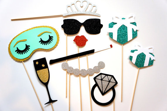 classy bridal shower photo booth props set birthdays wedding bridal shower parties photobooth masks 10