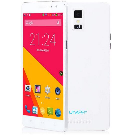 Original Uhappy UP550 Android 4.4 3G MTK6582 Quad Core 1GB+16GB HD Screen Cellphone