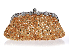Exquisite hand-beaded evening bag retro bride package sequined cheongsam hand bag package