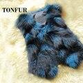 Women New Fashion 100% Pure Fox Fur Vest Real Fox Fur Natural Fur Gilet FP661