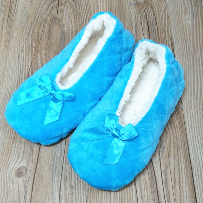 2017 New Winter Warm At Home Women Slippers Cotton Shoes Plush Female Floor Shoes Bow-knot Fleece Indoor Shoes Woman Home Slippe vanled 2017 new fashion spring summer autumn 5 colors home plush slippers women indoor floor flat shoes free shipping