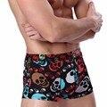 Homens sexy underwear u convex bolsa ice silk impresso boxers calções cueca calcinha calzoncillos masculinas plus size l-xxxl 14 cor