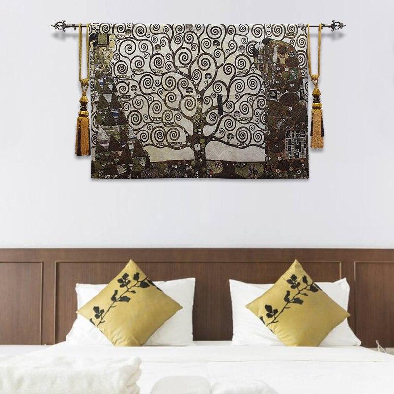 100x140 см 100% хлопок средневековый Zamioculcas искусство Европейское украшение для дома бельгийский гобелен настенный подвесной роскошный настенный Декор одеяло