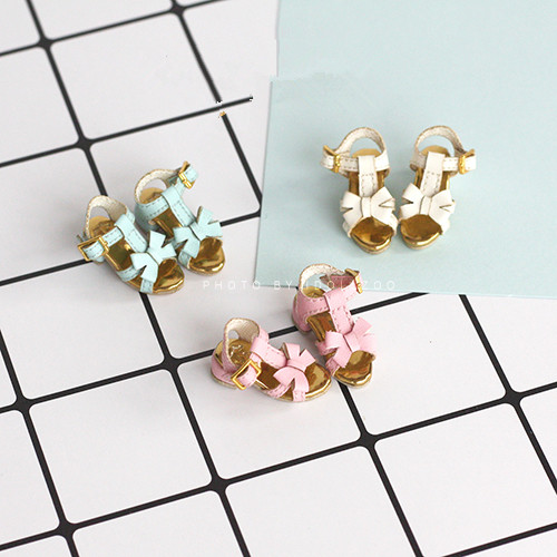 Free shipping High quality Handmade Bow sandals Doll shoes,doll accessories for blythe Pukifee Lati Azone play house gift toys