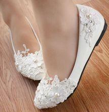 Flat ivory bridal shoes online shopping-the world largest flat ...