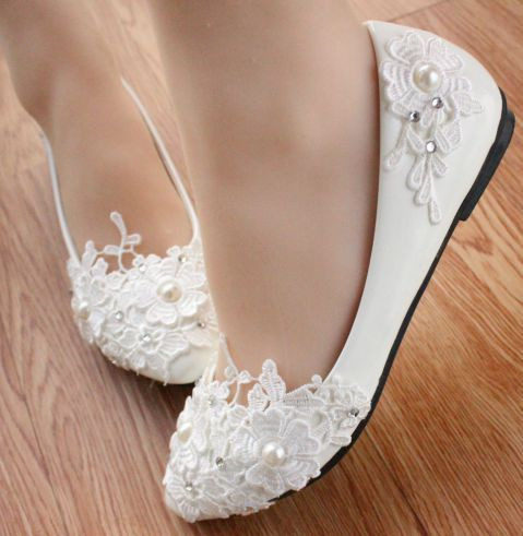 flat/3cm/4.5CM HEEL, Wedding bridal shoes flats for womens milk white light ivory woman PR623 ladies bridesmaid shoe