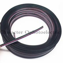 10m/lot, Tinned copper cable, 22AWG 5 pin RGB cable, PVC insulated wire, 22 awg wire , Electric wire, LED cable, DIY Connect недорого