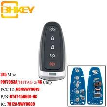 BHKEY Smart Remote Key Keyless Fob For Ford M3N5WY8609 315Mhz For Ford Edge Escape Explore Expedition Flex Focus Taurus Car keys