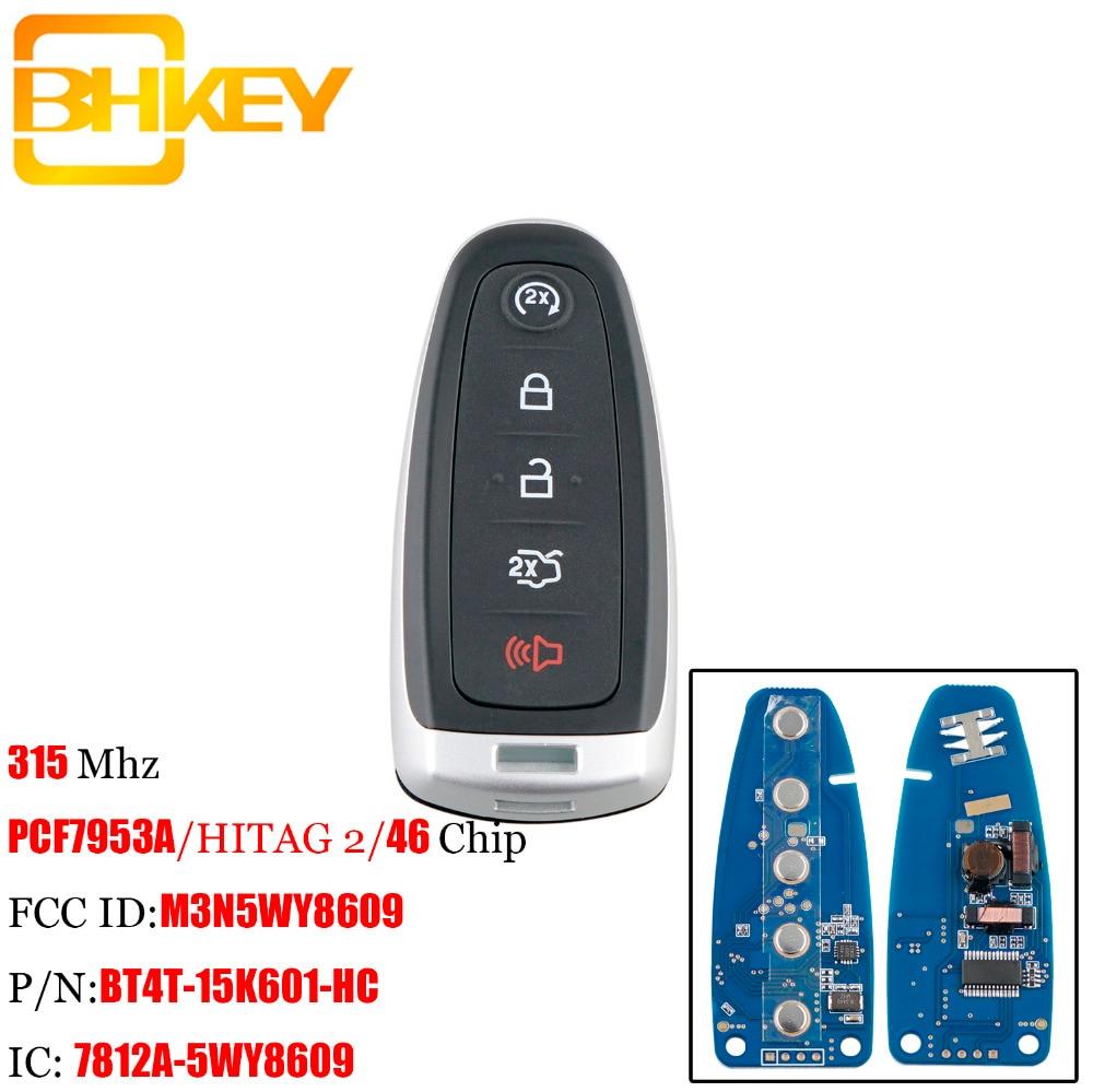 BHKEY télécommande intelligente sans clé Fob pour Ford M3N5WY8609 315 Mhz pour Ford Edge Escape explorer Expedition Flex Focus Taurus clés de voiture