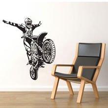 Shiping libre diy pared de vinilo pegatinas Moto Motocicleta Motocross Deporte Etiqueta de La Pared Decoración Tatuajes de Pared de Vinilo Art Room Decor