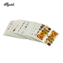 50 Sheets/Lot Animal Water Nail Stickers