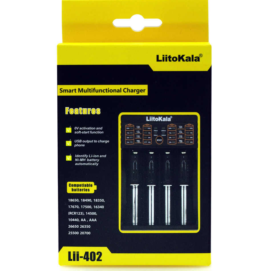 Liitokala Lii-500 Lii-402 100 202 S1 Batterij Lader, opladen 18650 3.7 V AA/AAA 26650 16340 18350 26500 NiMH Lithium Batterij